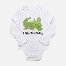 I Wrestle Daddy Alligator Baby Outfits