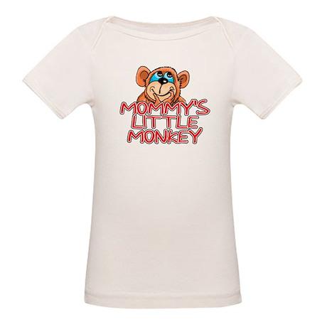 Mommy's Little Monkey Organic Baby T-Shirt