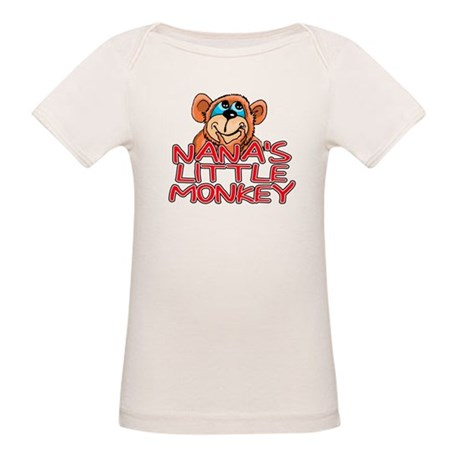 Nana's Little Monkey Organic Baby T-Shirt
