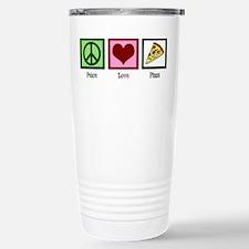 Peace Love Pizza Travel Mug
