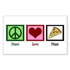 Peace Love Pizza Decal