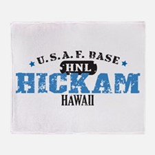 Hickam Air Force Base Throw Blanket