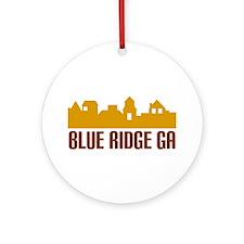 Blue Ridge Georgia Ornament (Round)