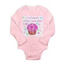 Papa's Little Cupcake Long Sleeve Infant Bodysuit