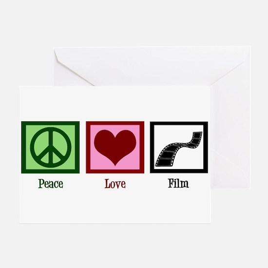Peace Love Film Greeting Card