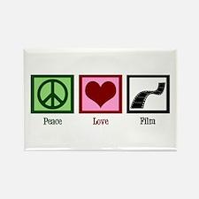 Peace Love Film Rectangle Magnet