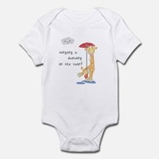 Giraffe in the Rain Infant Bodysuit