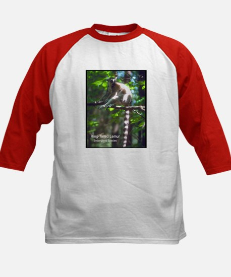 Ring-Tailed Lemur Photo (Front) Kids Baseball Jers
