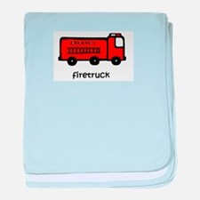 Firetruck baby blanket