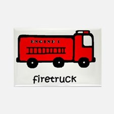 Firetruck Rectangle Magnet