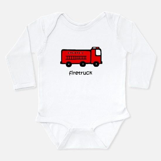 Firetruck Long Sleeve Infant Bodysuit