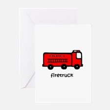 Firetruck Greeting Card