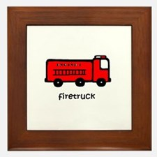 Firetruck Framed Tile