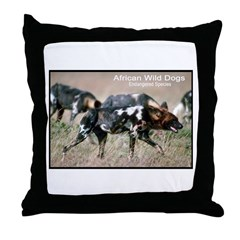 African Wild Dogs Photo Throw Pillow