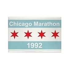 1992 Chicago Marathon Rectangle Magnet