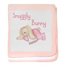 Pink Snuggly Bunny baby blanket
