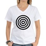 Bullseye Women's V-Neck T-Shirt