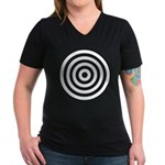 Bullseye Women's V-Neck Dark T-Shirt