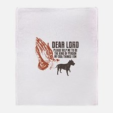 American Staffordshire Terrie Throw Blanket