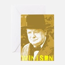 Winston Churchill Greeting Card