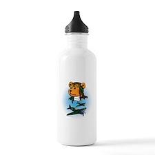 Jerry the Pilot Bear Sports Water Bottle
