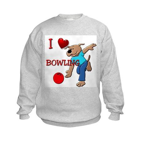 Bowling Dog Kids Sweatshirt