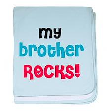My Brother Rocks baby blanket