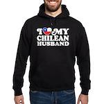 I Love My Chilean Husband Hoodie (dark)