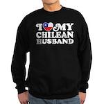I Love My Chilean Husband Sweatshirt (dark)