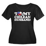 I Love My Chilean Husband Women's Plus Size Scoop