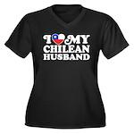 I Love My Chilean Husband Women's Plus Size V-Neck