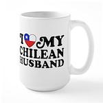 I Love My Chilean Husband Large Mug