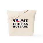 I Love My Chilean Husband Tote Bag