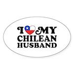 I Love My Chilean Husband Sticker (Oval)