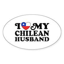 I Love My Chilean Husband Decal