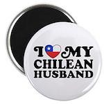 I Love My Chilean Husband Magnet
