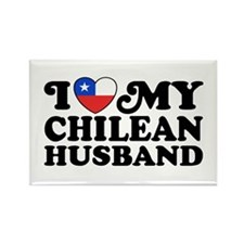I Love My Chilean Husband Rectangle Magnet
