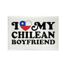 I Love My Chilean Boyfriend Rectangle Magnet