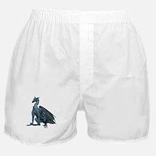 Sitting Blue Dragon (2) Boxer Shorts