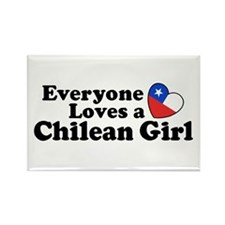 Chilean Girl Rectangle Magnet