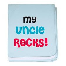 My Uncle Rocks baby blanket