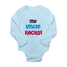 My Uncle Rocks Long Sleeve Infant Bodysuit