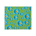 Pop Art Blue Daisy Throw Blanket