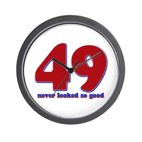 49 years never looked so good Wall Clock