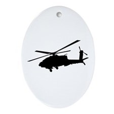 Cute Apache helicopter Ornament (Oval)