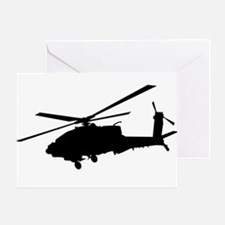 Funny Military helicopter Greeting Card