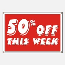 50% OFF this week Banner