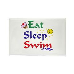 Eat Sleep Swim Rectangle Magnet (10 pack)