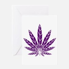 Purple Leaf Greeting Card