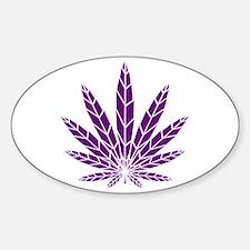 Purple Leaf Bumper Stickers